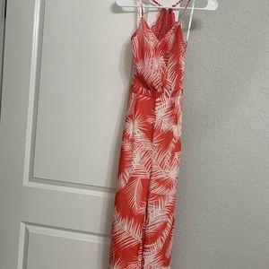 New Papaya red&white jumpsuit SMALL.